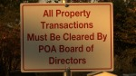 HOA Community Sign